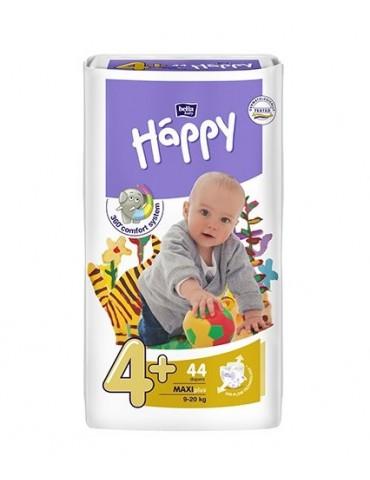 Pieluszki Bella Baby Happy 4+ Maxi+ - 44 sztuki