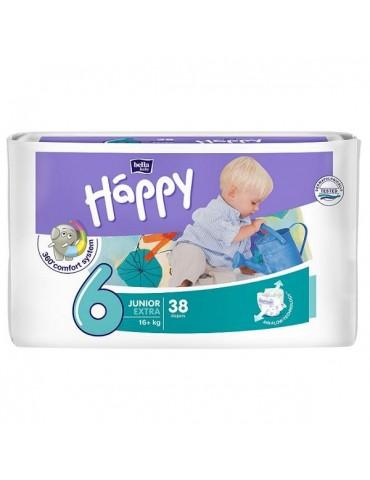 Pieluszki Bella Baby Happy 6 Junior Extra - 38 sztuk