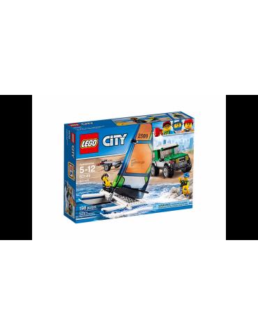 Lego City Terenówka 4x4 z katamaranem
