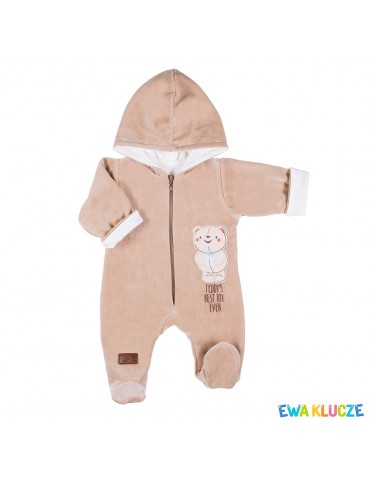 Pajac niemowlęcy welurowy LUCKY 56-74 Ewa Klucze