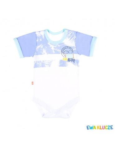 Body niemowlęce bawełniane krótki rękaw SUMMER TIME 68-92 Ewa Klucze