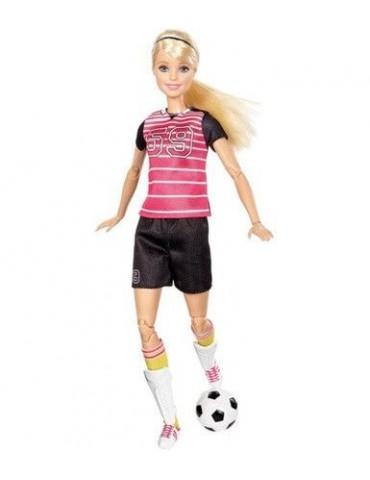 Barbie Blondynka Piłkarka Lalki sportowe