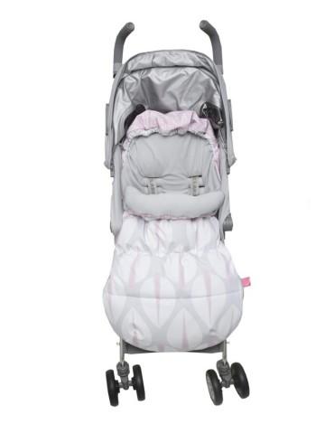 Motherhood 2w1 Śpiworek i Antywstrząsowa wkładka do wózka Drzewka różowe