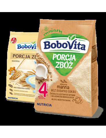 Kaszka porcja zbóż mleczna manna 210g BoboVita