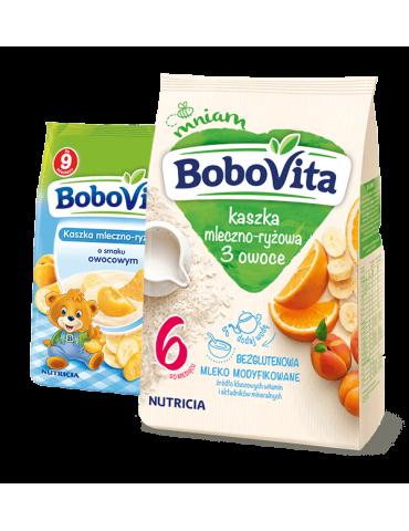 Kaszka mleczna-ryżowa 3 owoce 230g BoboVita
