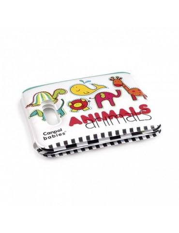 Canpol Miękka książeczka z piszczałką Kolorowe Zwierzęta