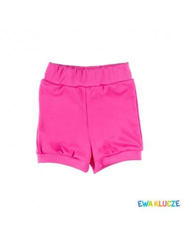 Spodenki krótkie bawełniane dziewczęce różowe LOVELY 68-86 Ewa Klucze