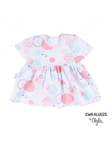 Bluzka niemowlęca bawełniana dziewczęca krótki rękaw LITTLE CHAMPION by Otylia 68-104 Ewa Klucze