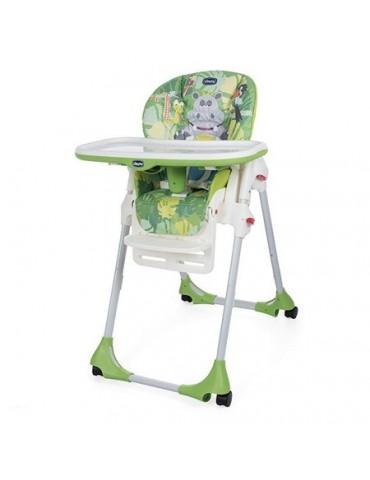 Chicco Krzesełko do karmienia Polly Easy 4 kola Happy Jungle