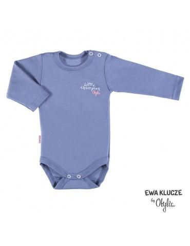 Body niemowlęce bawełniane dziewczęce grafit LITTLE CHAMPION by Otylia 68-98 Ewa Klucze