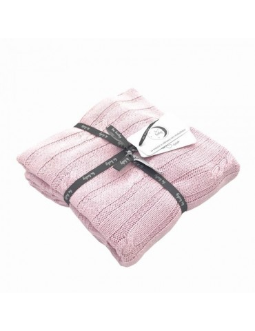 Poldaun Kocyk bebaby różowy