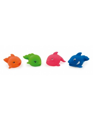 Zabawki do kąpieli RYBKI I DELFINY Canpol 2/993