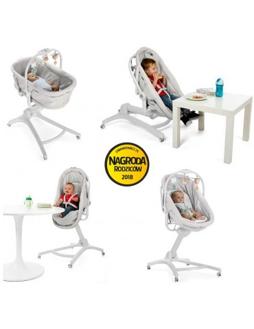 Chicco Baby Hug Leżaczek/Krzesełko 4w1 Glacial