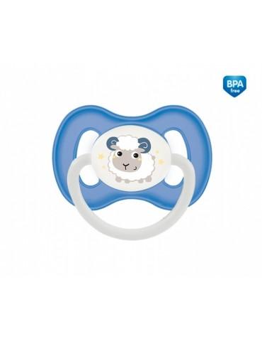 """Canpol Babies Smoczek silikonowy symetryczny """"Bunny&Company""""  0-6mcy"""