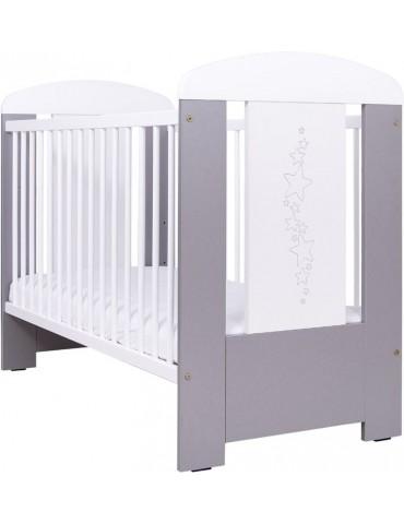 Drewex łóżeczko Gwiazdki srebrno/szare 120×60 cm
