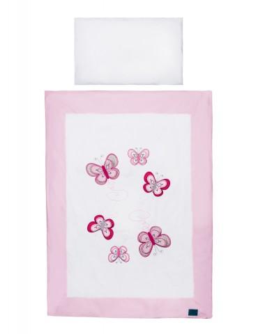 Belisima Baby Pościel 2 - elementowa 135/100 Motylkowy Obraz róż