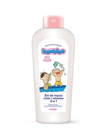 """Bambino - Edycja Specjalna """"DZIECIAKI"""" - Żel do mycia ciała i włosów 2w1 ŁÓDKA 400ml"""