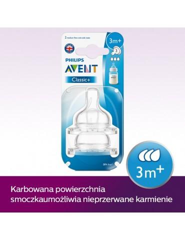 Smoczek AVENT Airflex średni 2 szt.CLASSIC+