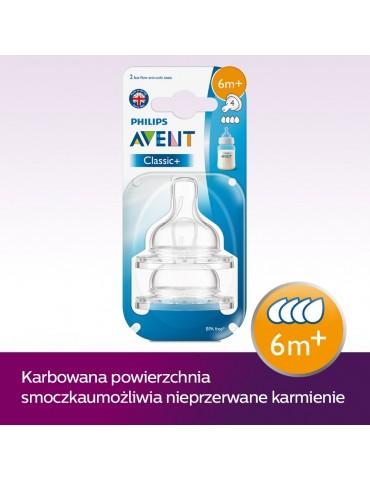 Smoczek AVENT Airflex szybki 2 szt.CLASSIC+