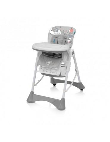 Krzesełko do karmienia Pepe Baby Design jezyk szare