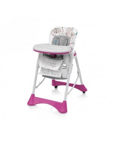 Krzesełko do karmienia Pepe Baby Design różowe new