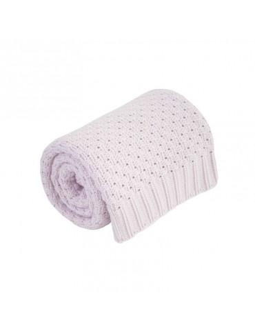 Effik Kocyk różowy 100% bawełny