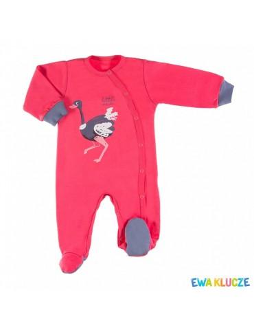 Pajac niemowlęcy bawełniany róż EMU 56-86 Ewa Klucze