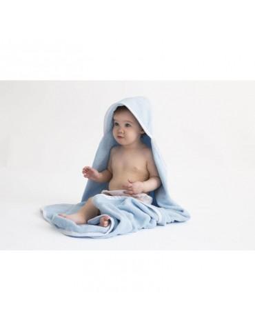 Effik Ręcznik z kapturkiem Owieczka Niebieski 95 x 95 cm