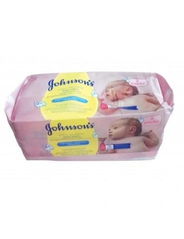 Johnson's Baby  Chusteczki bezzapachowe do skóry wrażliwej 2x56 szt  2x56szt