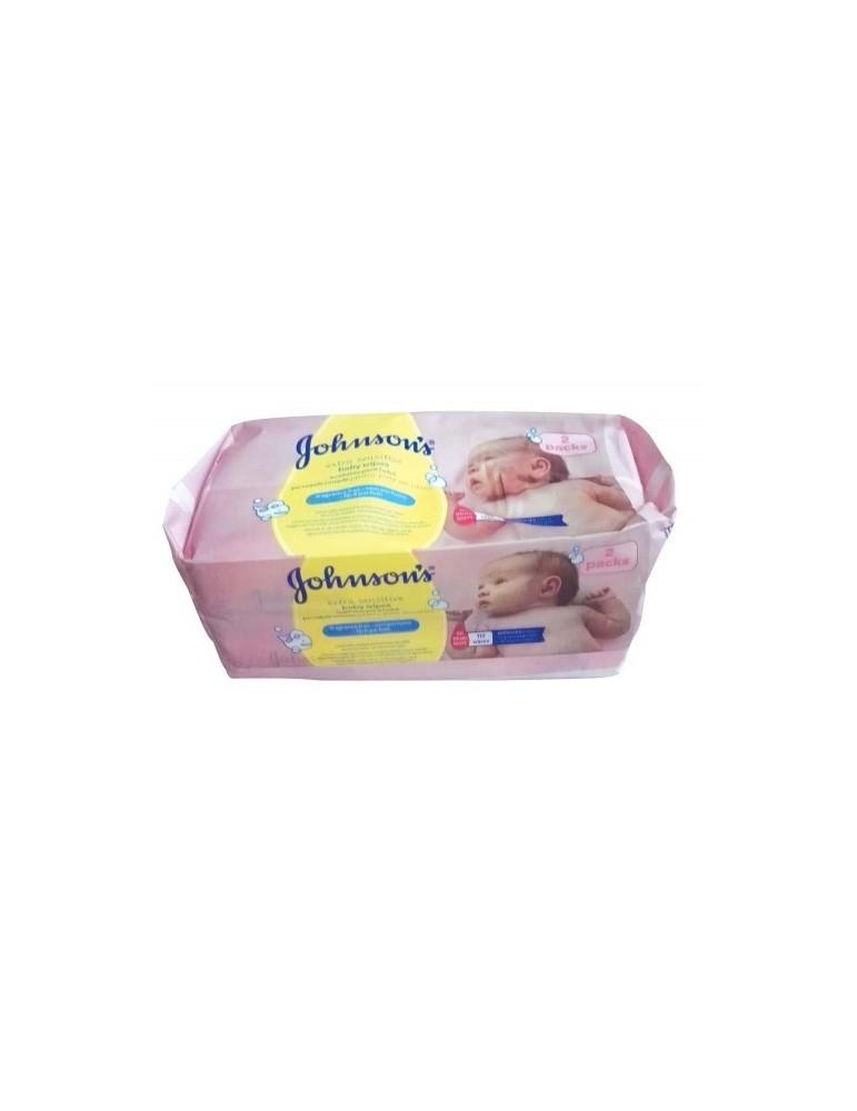 Johnson's Baby  Chusteczki bezzapachowe do skóry wrażliwej 2x56 szt