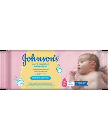Johnson'sbaby Extra Sensitive 56szt. chusteczki nawilżane
