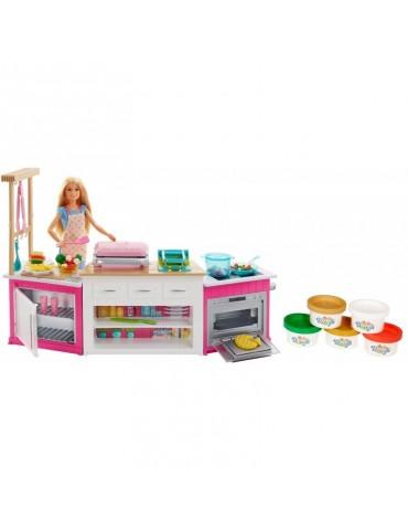 Barbie Zestaw Idealna kuchnia i lalka