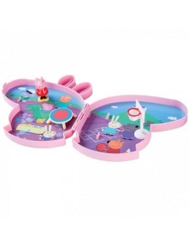 TM Toys Świnka Peppa - Walizeczka Boisko szkolne zestaw do zabawy z akcesoriami