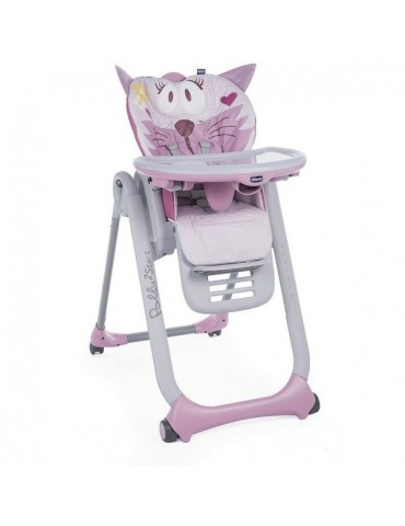 Chicco Polly 2 Start 3w1 krzesełko do karmienia 4 kółka Miss Pink
