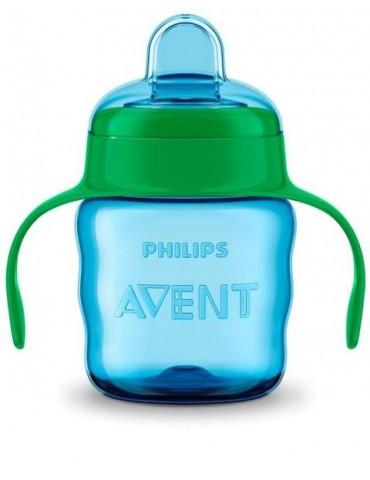 Avent Kubek niekapek z miękkim ustnikiem 200 ml (6m+) – niebiesko-zielony