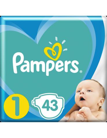 PAMPERS New Baby-Dry 1 (2-5kg) 43 szt. pieluchy jednorazowe