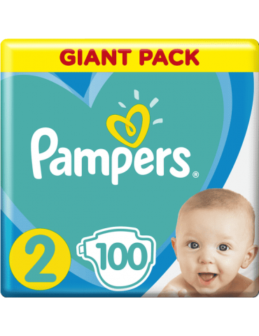 PAMPERS New Baby-Dry 2 (4-8 kg) 100 szt. GIANT PACK pieluchy jednorazowe