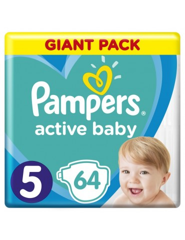Pampers Active Baby Pieluchy jednorazowe rozmiar 5 Junior  11-16 kg 64 szt.