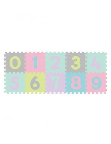 BabyOno Puzzle piankowe 10szt CYFRY pastelowe