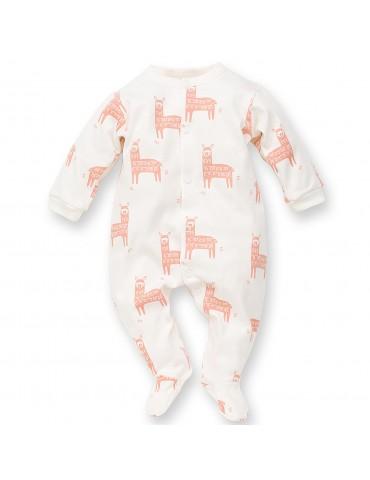 Pajac niemowlęcy bawełniany ecru HAPPY LLAMA 56-74 Pinokio