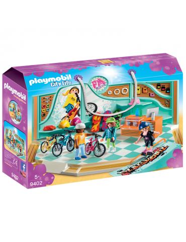 Playmobil City Life Sklep rowerowy i skateboardowy
