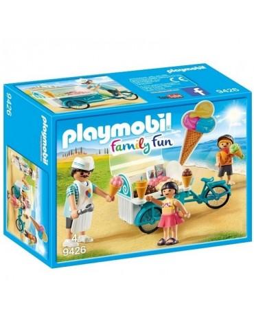 Playmobil Family Fun Rower z wózkiem z lodami