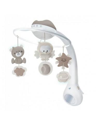 Infantino Projektor Muzyczna Karuzelka 3w1 beżowa