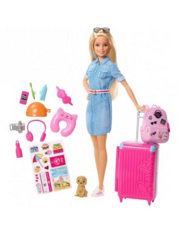 Barbie Dreamhouse Adventures Lalka w podróży z pieskiem