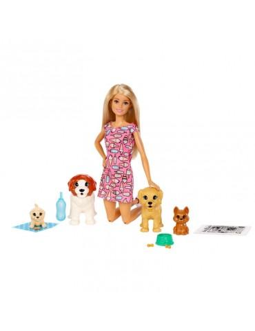 Barbie Lalka Opiekunka piesków Zestaw