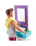 Barbie Zestaw Ken do zabawy w golenie Umywalka z lustrem i Akcesoria