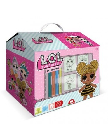 Pieczątki LOL kreatywny zestaw domek