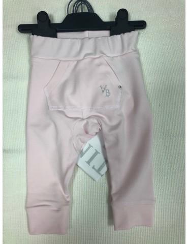 Spodnie niemowlęce bambusowe haft Swarovski róż 62-74 Vertini