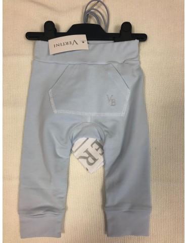 Spodnie niemowlęce bambusowe haft niebieskie 62-74 Vertini