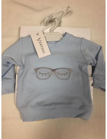 Bluza niemowlęca bambusowa haft OKULARY niebieskie  62-74 Vertini